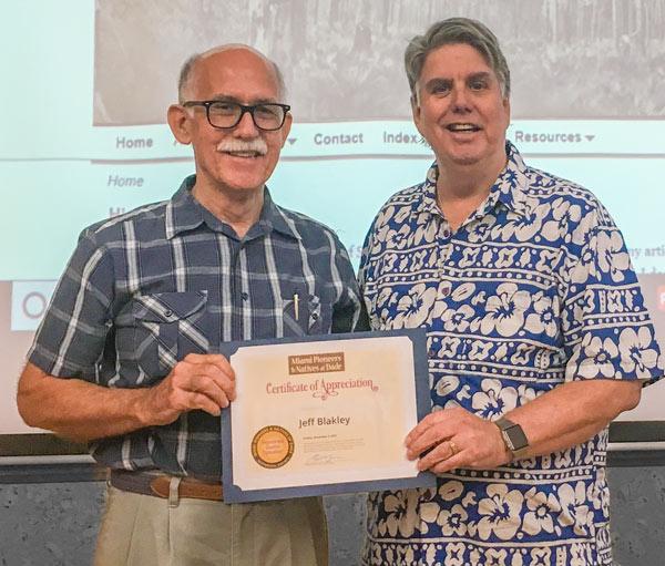 Guest Speaker Jeff Blakley Receives Appreciation